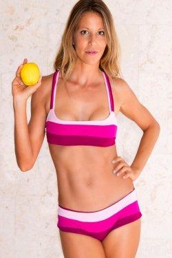 Top Lipari Yoga Tri Tone Pink