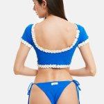 Costume Priscilla Top Bikini Blu