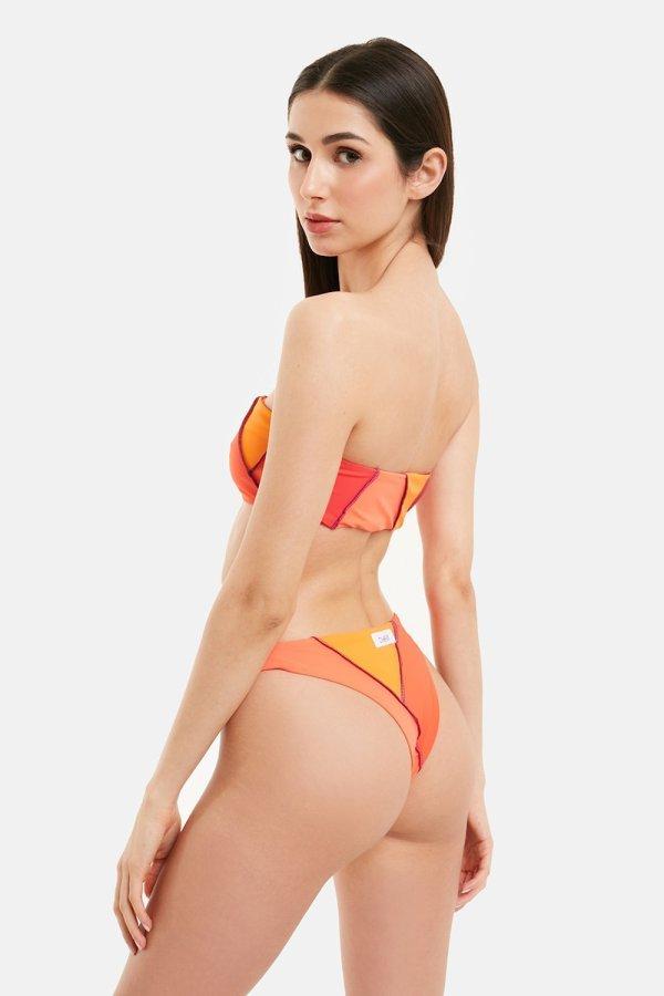 Costume Diana Bikini Arancione Fascia
