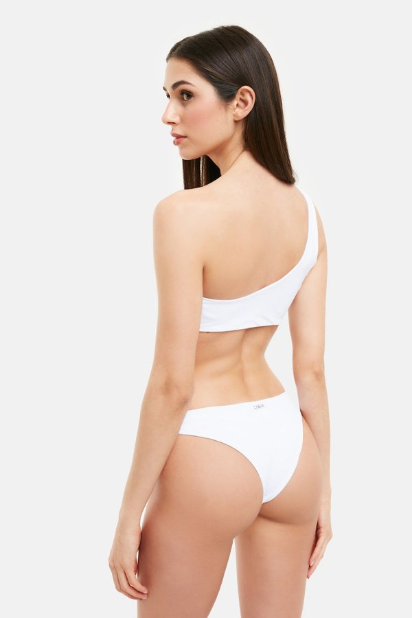Costume Marghe Monospalla Bikini Bianco