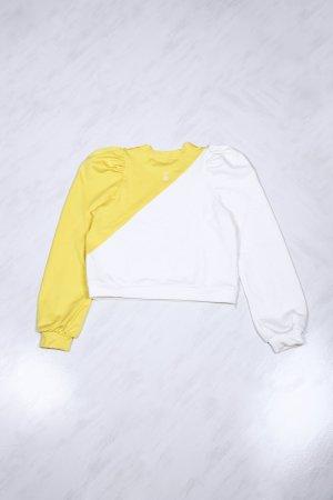 Felpa Love Bianco/Giallo