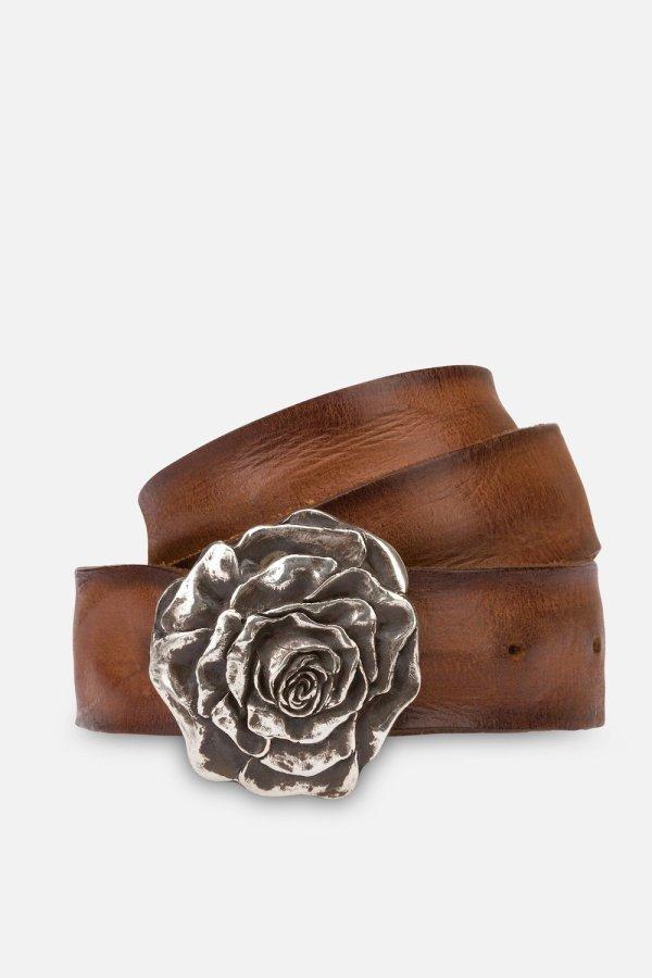 Cintura Rosaria in Cuoio BruciatoCintura Rosaria in Cuoio Bruciato