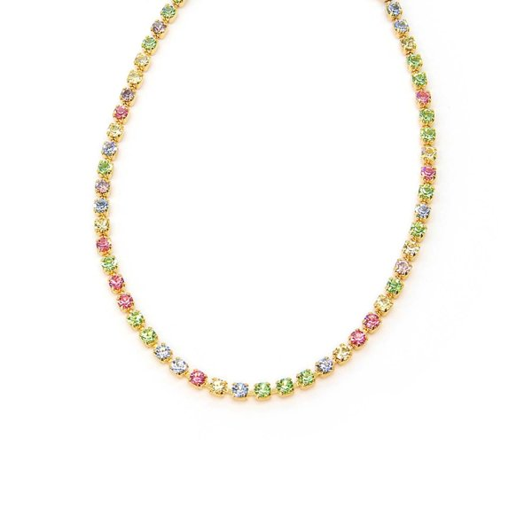 Cavigliera Stardust Oro Con Catena Swarovski Multicolor