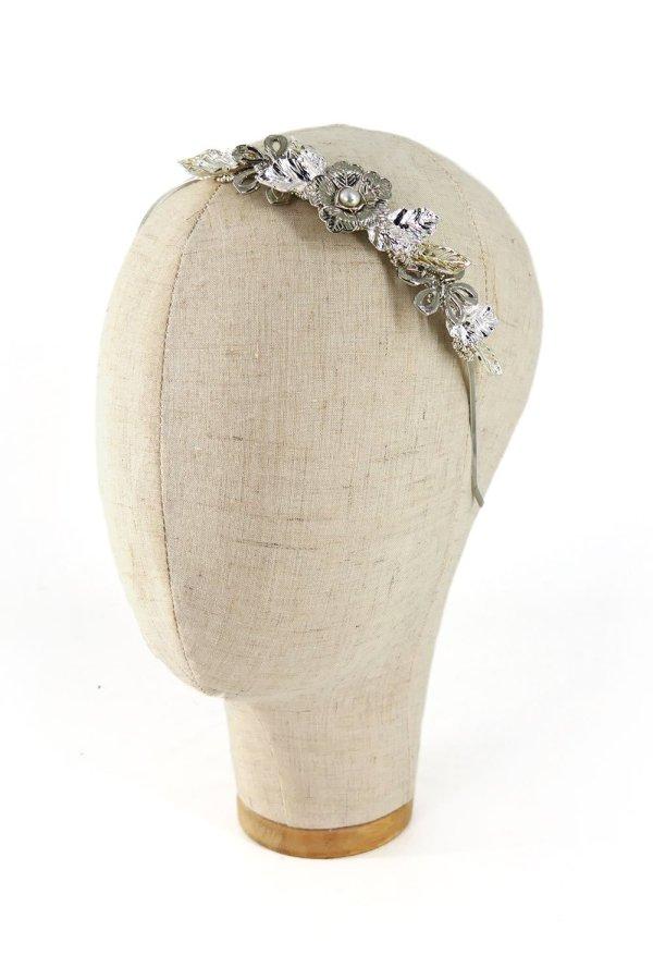 Cerchietto gioiello con filigrane argento