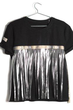 T-shirt Fringe Gold Nero