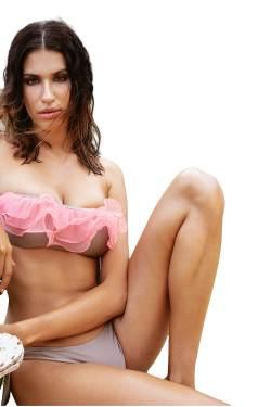 Bikini Amalfi Bandeau Stardust Strawberry