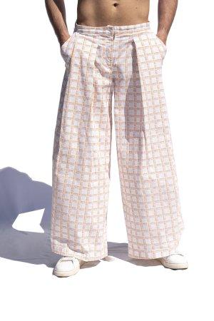 Pantalone ampio con pieghe