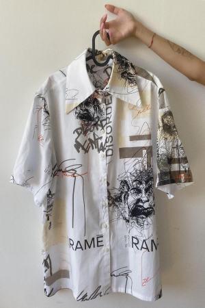 Camicia oversize stampata