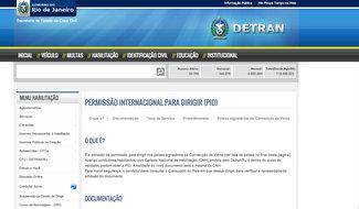 Site do Detran - RJ