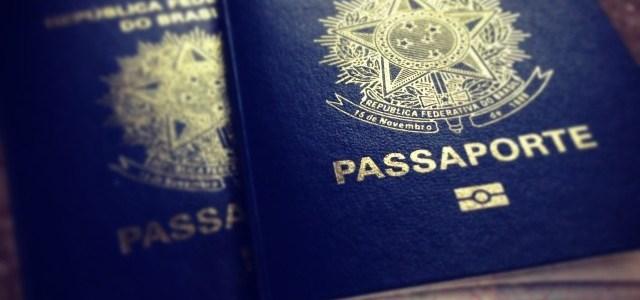 Passaporte brasileiro válido por 90 dias.