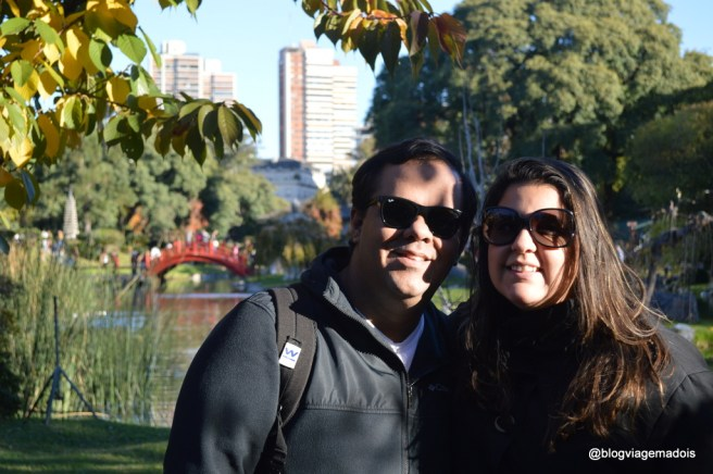 No Jardim Japonês de Buenos Aires