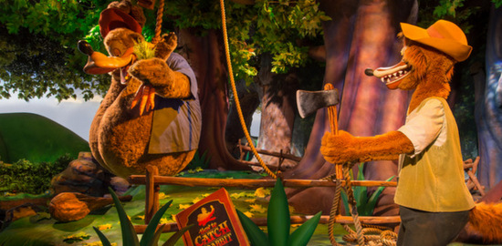 O urso pendurado que falei (Foto do site da Disney)