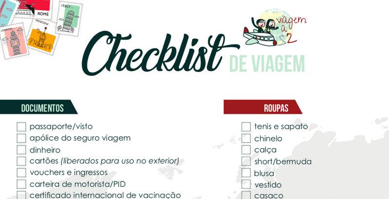 Checklist de viagem para download