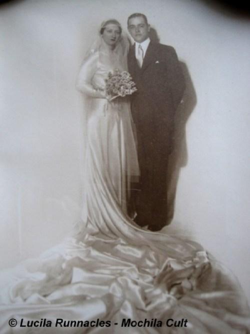 Foto do casamento da minha vó