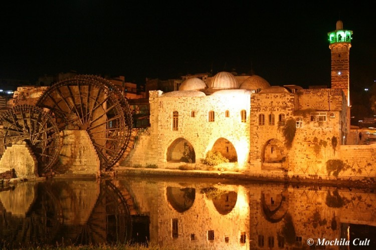 As belas rodas de água de Hamra