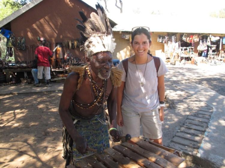 Nas Cataratas de Vitória, na Zâmbia