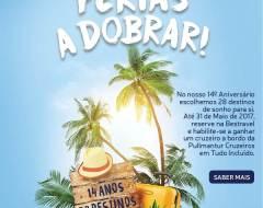 Férias A Dobrar: Passatempo da Bestravel oferece Cruzeiro Pullmantur