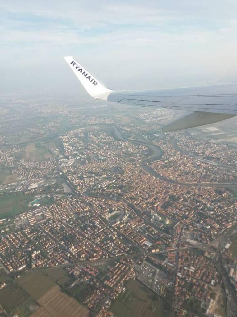 Imagem aérea do Norte de Itália