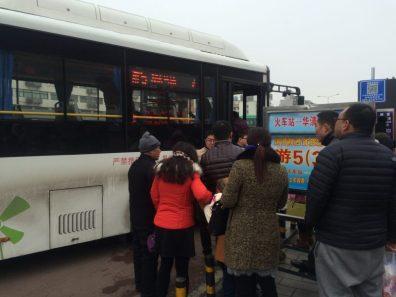 Saída do ônibus na Railway Station de Xian