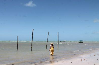 Praia do Toque, em São Miguel dos Milagres