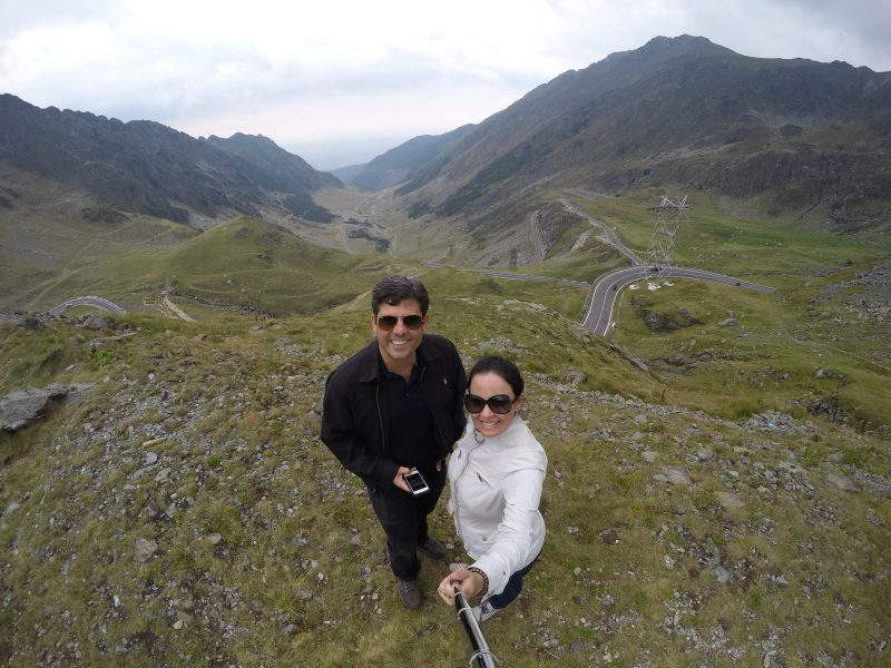 Selfie na Transfagarasan, na Romênia