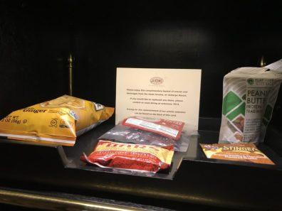 Hotel Jerome, Aspen, sncaks gratuitos no quarto