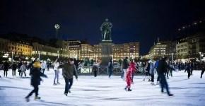 Stoccolma, sulle piste di pattinaggio sul ghiaccio