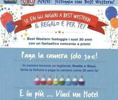 Fai gli auguri a Best Western e vinci 30 Travel Card