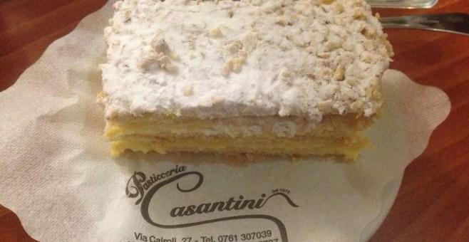 Mangiare il dolce tipico di Viterbo, da Casantini