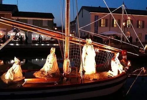 Presepe galleggiante a Cesenatico per Natale