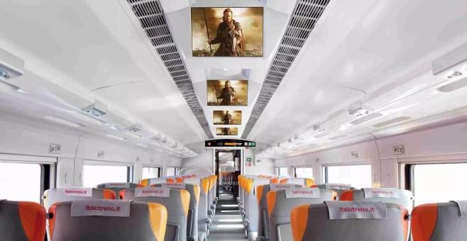 Il Cinema con i film in prima visione approda su Italotreno
