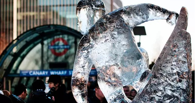 London Ice Sculpting Festival a gennaio sculture di ghiaccio a Londra