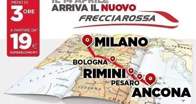 Trenitalia Milano – Rimini – Ancona da 19€ ad aprile