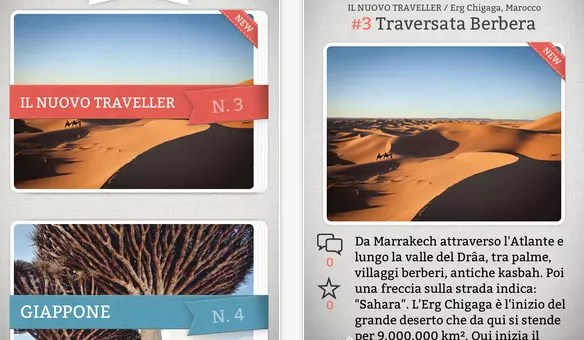 Traveller Cards, un'app da cartolina
