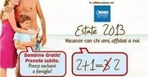 Clubviaggi e Eden viaggi e la promozione Happy Family per l'estate 2013