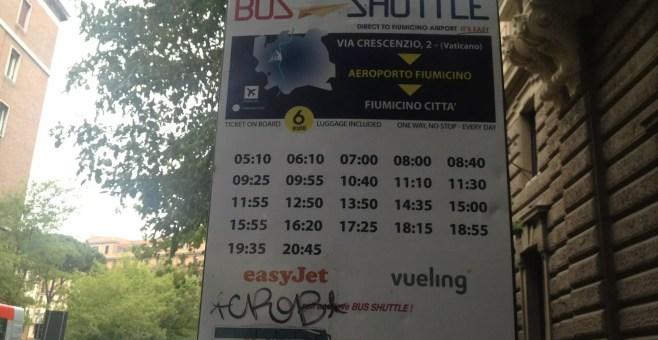 Da Fiumicino al Vaticano con il Bus Shuttle