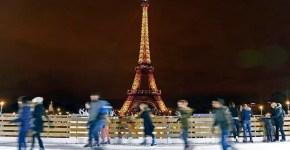 Piste di pattinaggio sul ghiaccio a Parigi