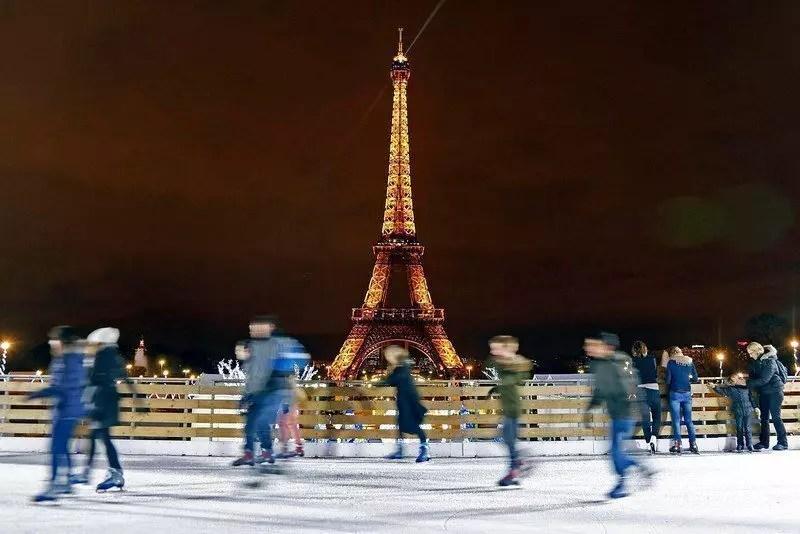 pattinare sul ghiaccio parigi