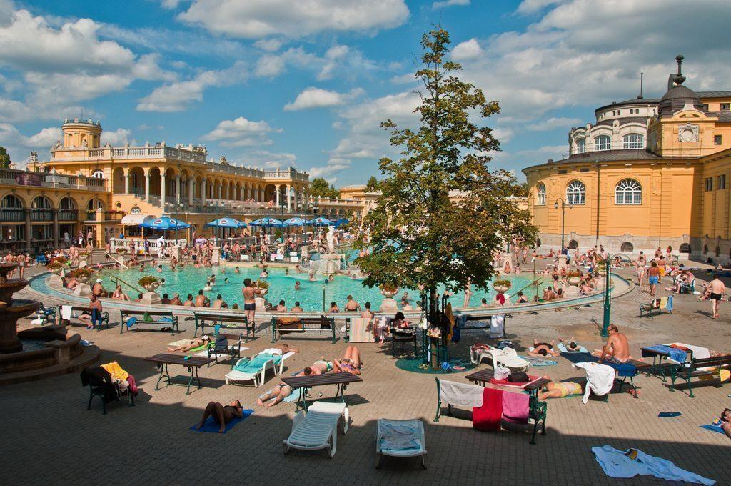 Budapest terme, bagni Széchenyi in Ungheria