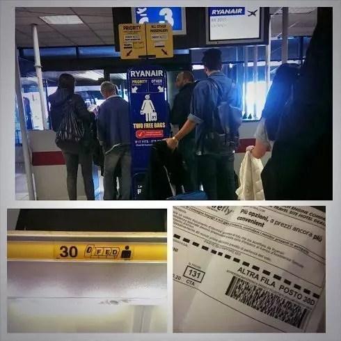 Ryanair posti assegnati sui voli
