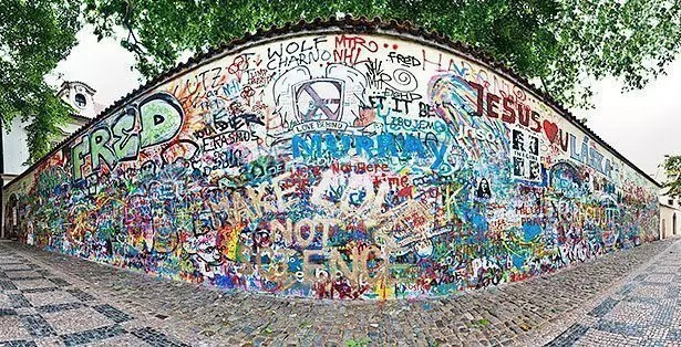 John Lennon wall at Mala Strana