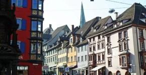 Rottweil nel sud della Germania, città di insegne e del carnevale