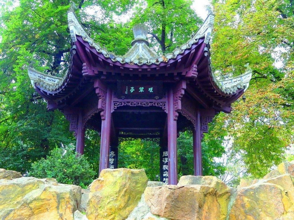 L'oasi verde del Bethmannpark con il parco cinese