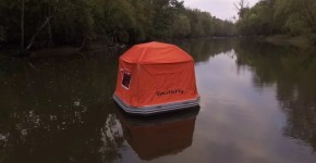 Campeggiare con una tenda galleggiante, arriva la Shoal tent