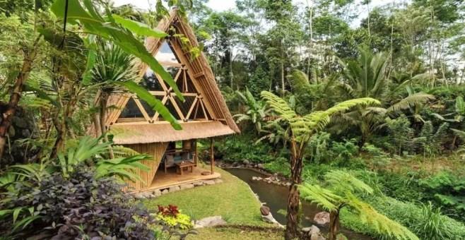 Eco Bamboo Home, Hideout Bali: casa sugli alberi da sogno
