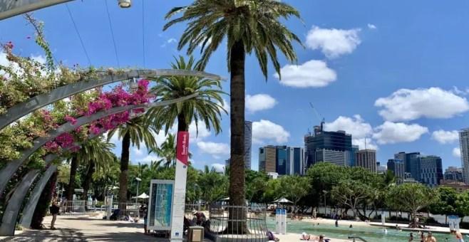 Brisbane South Bank: il mare nel centro della city