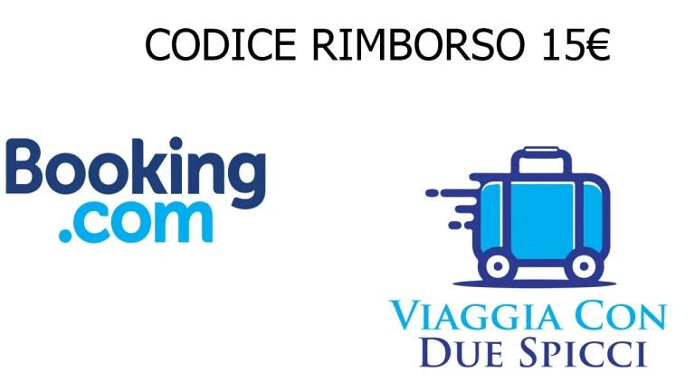 Codice Rimborso 15€ Booking