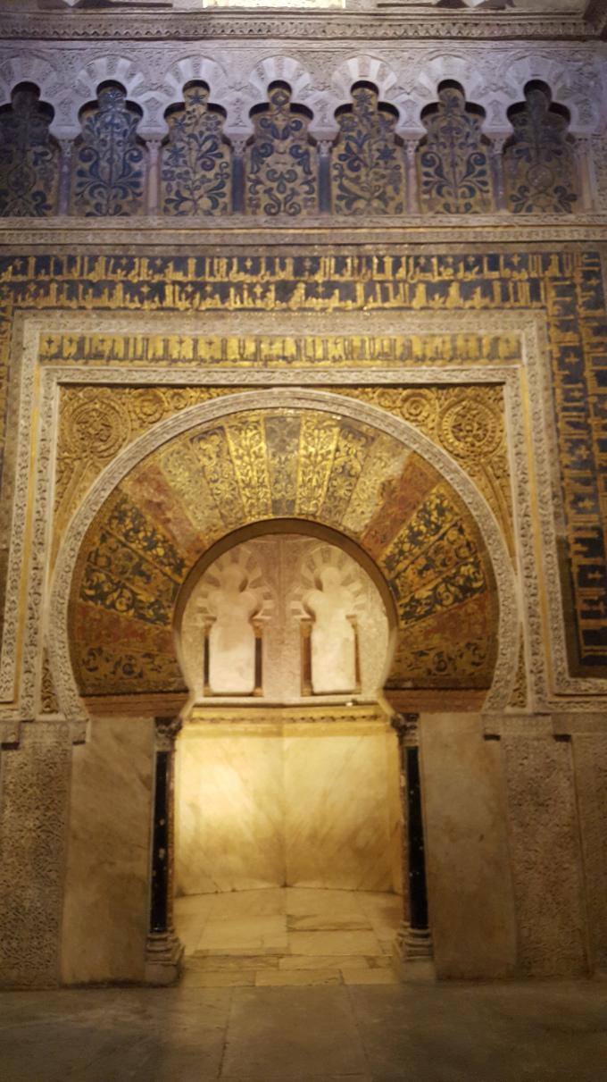 cordoba profilo in oro moschea