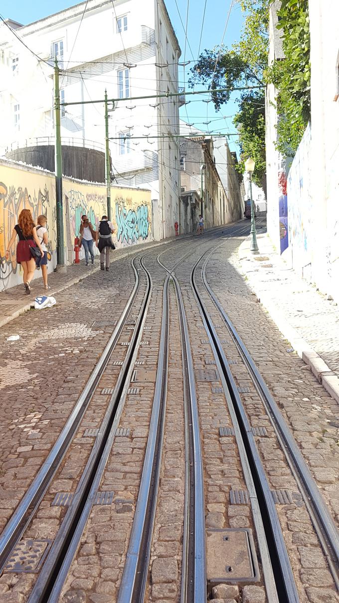 lisbona rotaie tram