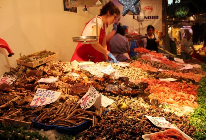 barcelona pesce boqueria